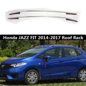 Para FIT JAZZ 2014-2017 Roof Rack Rails Bar bagagem portador barras superiores Racks Rail caixas de alumínio pasta de liga de 3m