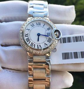 tamanho pequeno Diamonds 28mm assistir mulheres relógio de quartzo das mulheres à moda relógio de aço melhor presente Relógios inoxidável para senhoras