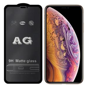 venta caliente AG helada mate de la cubierta completa de completa Pegamento vidrio templado para el iPhone 11 Pro Max X XR XS Max