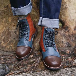 Masorini Mâle À Lacets Chaud Cheville Bottes Hommes Bottes En Cuir Bottes D'hiver Chaussures Mode Hommes Brithsh Chaussures 2018 BRM-078
