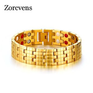 ZORCVENS Drop-Shipping Magnetic Health Care Bracelet Bangle Gold-color Men's Chain Jewelry With Magnets