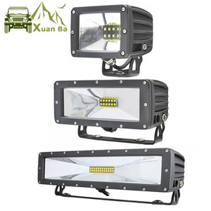 XuanBa Mini 5'' 9'' 13.5 Inch LED Light Pods Flood Beam for Offroad 4WD SUV Truck Tractor Driving Work Lamp 12V 24V