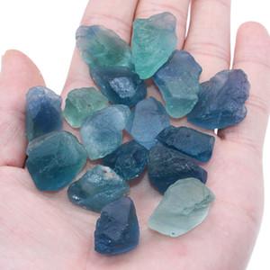 200g Новый природный кристалл Грубый Зеленый Синий флюорит Камни Мода Ore Типовое Fish Tank и спальня украшения Исключите Negative Energy