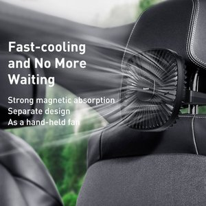 Baseus Magnetic Car Fan Cooler Car 360 Degree Rotating Silent Cooling Fan 2 Speed Car Air Conditioner Rear Seat Fan Handheld