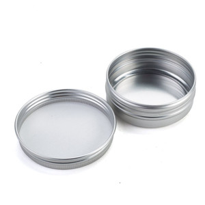 Aluminium Aluminium Jar Tin Cans Couvercle à vis en métal Boîtes bocaux amarre contenants vides à glissière 5ml 10ml 15ml 20ml 25ml 30ml 50ml 80ml Jar aluminium Tin
