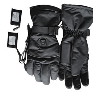 1 paire USB Hiver chaud à la main thermoélectriques chauffage Gants chauffants à piles pour les hommes et les femmes de moto Gants de ski