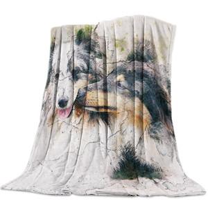 Couverture personnalisée Home Textile Deux chiens se aiment Flanelle Weighted Couverture souple Throw chaud canapé-lit Couvertures Voyage
