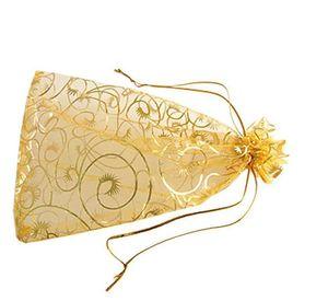 100 Pz 9x12 cm BIANCO nero rosso rosa blu ciglia Organza COFFIATURA Gioielli sacchetto di imballaggio Sacchetti regalo bomboniera