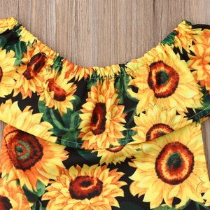 Toddler Girl Clothes 2019 Kids Baby Girl Summer Clothes Sunflower Tops Long Pants Leggings Outfit