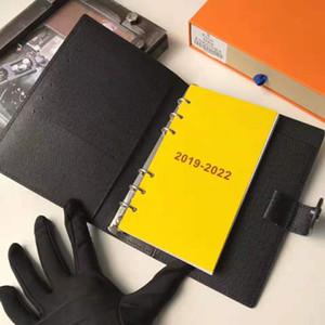 7 Stelle di Alta Qualità Del Progettista marrone Griglia In Pelle Di Vacchetta Agenda rubrica o Notepad Sacchetto Della Copertura ID Anello Del Supporto di carta Notebook regalo scatola di carta