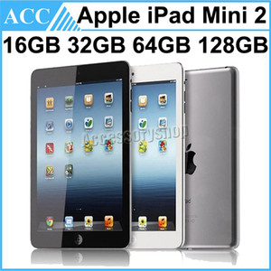 Recuperado Original da Apple iPad Mini 2 WIFI versão de 16GB 32GB 64GB 128GB 7,9 polegadas Retina 1pcs IOS Dual Core A7 Chipset Tablet PC grátis DHL