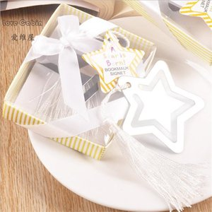 Silver Metal star Bookmark Baby Shower Christening Wedding Favours for guest souvenirs return gifts 50pcs