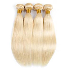 trama peruviana KISSHAIR # 613 biondi capelli 4 fasci di estensione dei capelli umani diritti brasiliani remy indiani dei capelli