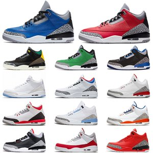 3 3s Basketball Shoes for Men Red Cement air Varsity Royal UNC Tinker Knicks Rivals Animal Pack Retro Katrina Fire Red Sport Sneakers