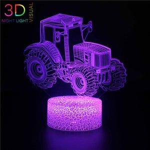 زوي 3D الرياضة ليلة السيارات الخفيفة العظمى سيارة لعبة 3D الاكريليك مصباح تغير لون 7 ليلة الخفيفة الصغيرة لون الطفل أضواء LED USB