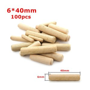 100 PCS 6 8 10mm Round Cork, Wooden Sticks, Twill Wood Nails, Furniture Connector with Three in One