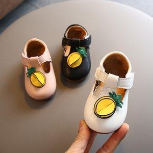 Nouveau-né Enfants Filles Jeunes enfants Bébé Princesse Chaussures en cuir pour bébés filles plat simple Chaussure 2020 New 6M 8M 10M 2 3 ans