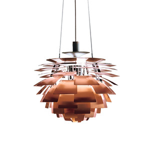 Danemark conception accueil suspendus lumières blanc cuivre pomme de pin lustre Suspension Luminaire Luminaire Décor Pour Cuisine / Table À Manger