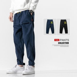Men's casual and jeans tooling jeans loose fashion brand men's casual pants fashion autumn 2020 large size ankle-length pants