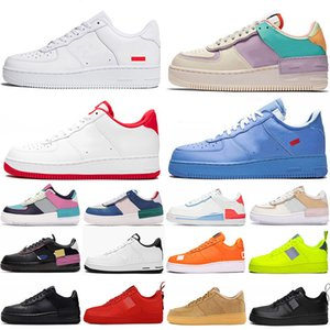 2020 des chaussures de skate air force 1 white off MCA Low stock x airforce one Shadow af1 just do it Pale Ivory baskets MOMA hommes femmes Designer Running Sneakers Trainers