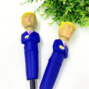 Donald Trump Squishy Kalem Yavaş Rebound Dekompresyon Hediye Simüle Karikatür Komik Yavaş Rising sıkın Stres Tahliyesi Yenilik Oyuncaklar E11402 kalemler