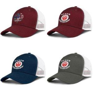 Sturm Ruger Logo Burgunder Herren und Damen Trucker Cap Baseball kühlen Designer Hüte von STURM RUGER Aufkleber Ruger- Logo Flagge Geschützte Netz