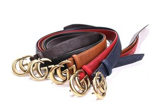5 Colors Mens Belts for Women Belt Leather Business Belts Women Big Gold Buckle 3.6CM Thick