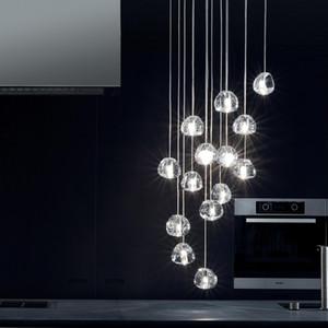 Nordic Postmodern Yemek Kolye Lambaları Cam Top Amerikan Basit Yatak Odası Kolye Işıkları Lamparas de Techo Colgante Moderna