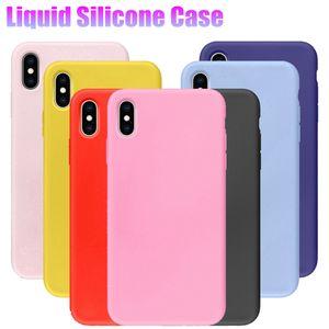 Preminum Qualité Silicone Téléphone Cas Pour iPhone 7 8 6 6 s Plus TPU Liquide Couverture Arrière Antichoc Souple Pour iPhone XS Max XR