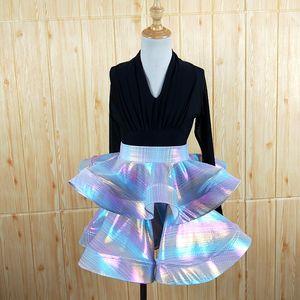 New Fashion Latin Dance Dress For Girls Ballroom Dancing Latin Dresses For Girl Shining Salsa Performance Costumes