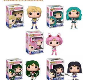Funko POP Sailor Moon Urano Neptuno Plutón LUNA SATURN figuras de acción del PVC venta caliente Modelo Masculino Femenino Juguetes