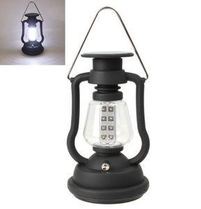 Alta Qualidade Super Brilhante Ao Ar Livre 16 DIODO EMISSOR de Luz Painel Solar Hand Crank Dynamo Lamp Camping Lantern LLFA