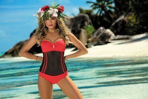 cOgCW One-piece mesh Body close-fitting stitching slim belly-covering swimsuit женский цельный сетчатый бикини Body sticker close-fitting stick
