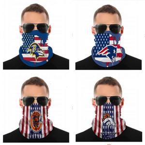 2020 Yeni 5 Katman Toz Maskeleri Erkekler ve Kadınlar Rugby Takımı Patriots Ravens Broncos Ayılar Takım Moda Uzun Yüz Maskeleri Değiştirilebilir Yüz Havlu