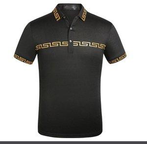 2020 new fashion designer brand Medusa embroidery clothing men's fabric polo t-shirt lapel collar collar casual T-shirt top