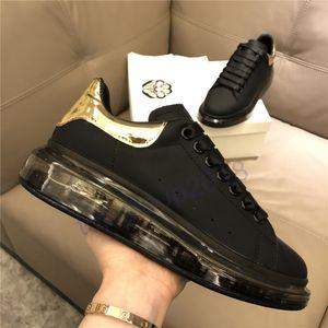 Freizeitschuhe Klare Sohle der Frauen Männer Platform Sneaker Hommes Leder Trainer Kristall Bottom Chaussures Triple-Espadrilles