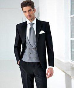 maßgeschneiderte Bräutigamanzug Männer für Hochzeitskleid 2021 Maßgeschneiderte Anzüge Black Prom Tragen Sie hohe Qualität