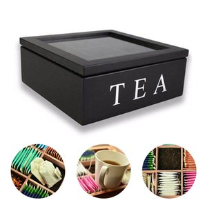 Tea Bag Jewelry Organizer Storage Box Compartments Tea Box Organizer Wood Sugar Packet Container Tea Coffee Dried Flowers Boxes