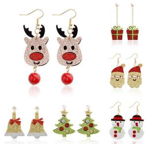Noel küpe Yeni Stil Noel Baba kardan adam geyik çan Noel ağacı Dangle Küpe takı aksesuarları kadınlar kızlar için Noel hediyeleri