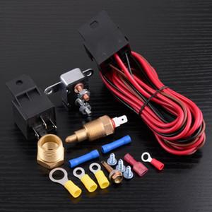DWCX 4 Pin Grad Motorkühlung Lüfter Thermostat Temperaturschalter Sensor 12V Relais Harness Kit für 283 305 307 265 327 350 383