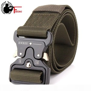SWAT Military Equipment Knock Off Army Belt Men Heavy Duty US Soldier Combat Tactical Belt Buckle Male Sturdy Nylon Waistband