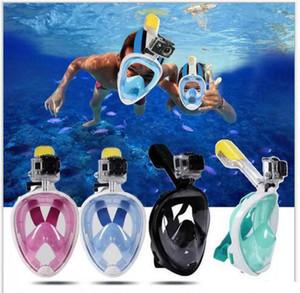Été sous-marine Masque de plongée Snorkel Set masque de plongée en apnée plein visage Plongée Formation Natation Anti Brouillard No jouet Support de la caméra