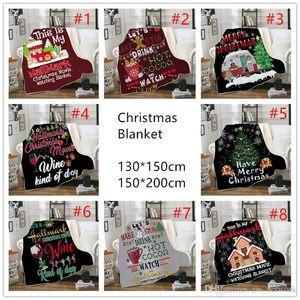 Cobertor de Natal para as crianças 3D imprimir Grosso Sherpa velo cobertores quentes macio sofá lance cobertor dormir Quilt cobertor 130 * 150 centímetros