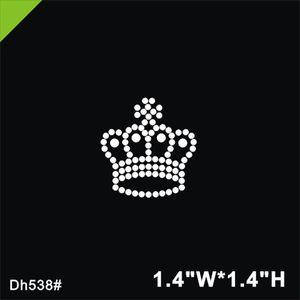 Frete grátis Crown design hot fix strass, design de transferência de calor de ferro em strass motivo embelezamento DH538 #
