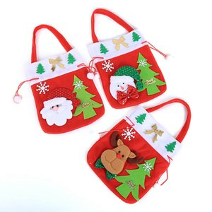 Happy New Year 2019 Year Merry Christmas Gift Sacchetto regalo di Natale Candy Bag Merry Candy Bags Xmas Decorat