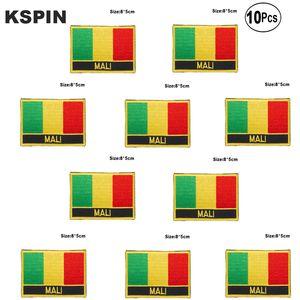 Bandera de Malí bordado parches de hierro en Sierra de transferencia de parches de aplicaciones de costura de ropa en huerto casero