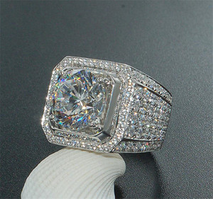 Big Advance 3CT Real 925 Серебряное кольцо SWA Элемент Имитированные Алмазные кольца для Женщин Оптовая Свадебная Обручальные Изделия Kka1940