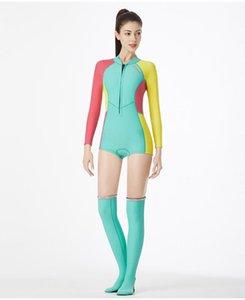 1.5MM Neopren Bikini Dalgıç UV Koruma Uzun Kollu Dalış Suit Yüzme Suit Kadın Sörf Şnorkel Çoraplar Çizme