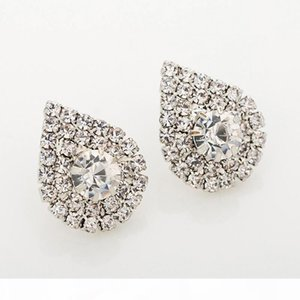 2017 fashion jewelry studding wedding earrings for brides popular rhinestone dress baldpates natural stone women earings E016