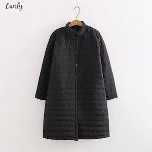 Plus Size Thin Red Wadded Regular Autumn Winter Jackets Women Cotton Long Padded Coat Outwear Warm Chaquetas Parka Feminina